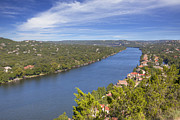 360 Bridge Framed Prints - Austin Images - Mount Bonnell on an Autumn Afternoon Framed Print by Rob Greebon