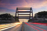 360 Bridge Prints - Austin Images - Pennybacker Bridge looking Northeast Print by Rob Greebon