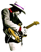 Photographs Drawings - Austin Powerhouse  Stevie Ray Vaughan by Iconic Images Art Gallery David Pucciarelli