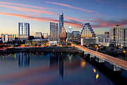 Downtown Austin Prints - Austin skyline and Lady Bird Lake Print by Rob Greebon