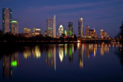 Rivers Prints - Austin Skyline Print by Mark Weaver
