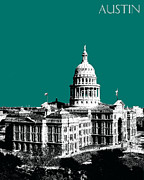 Austin Digital Art Metal Prints - Austin Texas Capital Metal Print by Dean Caminiti