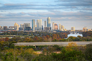 Photos Of Autumn Framed Prints - Austin Texas Images - The Austin Skyline from the Zilker Clubhou Framed Print by Rob Greebon