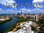 Skyline Photo Framed Prints - Austin Texas Framed Print by James Granberry