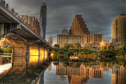 Texas Bridge Framed Prints - Austin Texas Framed Print by Jane Linders