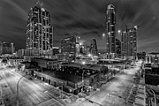 Texas Prints - Austin Texas Skyline Get Out the Crane Construction Time Again Print by Silvio Ligutti