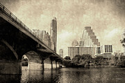 Austin Digital Art Posters - Austin Texas Vintage Poster by Sarah Broadmeadow-Thomas