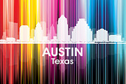 Austin Skyline Digital Art - Austin TX 2 by Angelina Vick