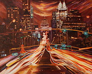 Austin Skyline Art - Austin Unplugged by Suzanne King