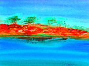 Australia Drawings - Australia Billabong 2 intense by Roberto Gagliardi