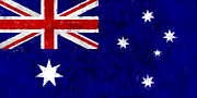 Canberra Posters - Australia Flag Poster by World Art Prints And Designs