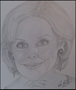 Celebrity Portraits Drawings Posters - Australian of the Year 2013 Poster by Melissa Nankervis