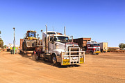 Red Dirt Posters - Australian Outback Truck Stop Poster by Colin and Linda McKie