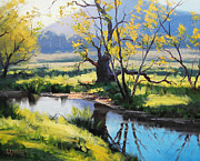 Australian River Painting Print by Graham Gercken