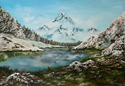 Fires Paintings - Austrian Lake by Jean Walker