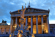 Austrian Parliament Building Print by Mariola Bitner