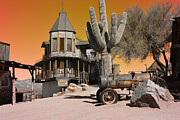 Haunted House Print Posters - Authentic Ghost Town Poster by Beverly Guilliams