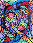 Vibrational Frequency Paintings - Authentic Relationship by Teal Eye  Print Store