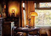 Table Lamp Framed Prints - Author -  Style and Class Framed Print by Mike Savad