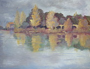 Stormy Weather Paintings - Autmn in Pont Royal by Linda  Wissler