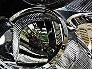Self-portrait Photos - Auto Headlight 133 by Sarah Loft