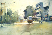 Mohan Watercolours - Auto In Street