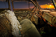 Randall Nyhof - Auto Interior of Abandoned Vintage Automobile