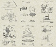 Mechanic Drawings Framed Prints - Auto / Mechanic Patent Collection Framed Print by PatentsAsArt
