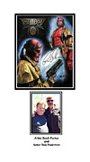 Comic Books Drawings Posters - Autographed Hellboy Poster by Scott Parker