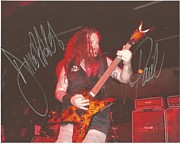 Autographed Metal Prints - Autographed Photo of Dimebag Darrell Metal Print by Charles Johnson Jr