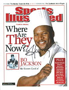 Sports Illustrated Posters - Autographed Sports Illustrated Cover by Bo Jackson Bo Knows Cookin Poster by Claudette Armstrong