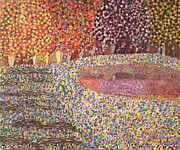 Pointillism Originals - Automne En feu by Michael Benjamin