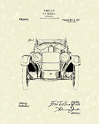 1920 Drawings Framed Prints - Automobile 1920 Patent Art Framed Print by Prior Art Design