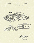 Transportation Drawings Prints - Automobile 1935 Patent Art Print by Prior Art Design