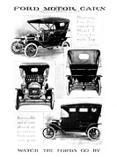 Early Drawings Prints - Automobile Advertisement Print by Granger