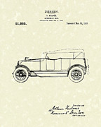 Automotive Drawings - Automobile Body 1918 Patent Art by Prior Art Design