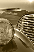 Glass Reflecting Framed Prints - Automotive Steel and Glass Framed Print by Gary Silverstein