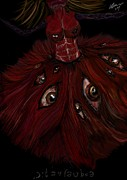 Creepy Digital Art Prints - Autophobia Print by Petra Derpface