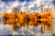 Lagoon Digital Art Prints - Autumn - 8 Print by Okan YILMAZ