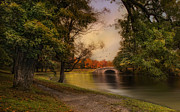 Fall Leaves Prints - Autumn Across the Bridge Print by Robin-lee Vieira