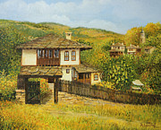 Picturesque Painting Prints - Autumn Afternoon in Bojenci Print by Kiril Stanchev