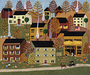 Farm Stand Painting Prints - Autumn Afternoon Print by Medana Gabbard