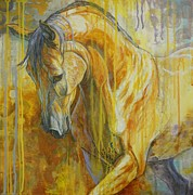 Brown Horses Posters - Autumn Air Poster by Silvana Gabudean