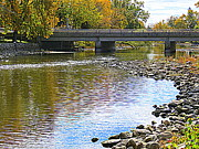 Kkphoto1 Prints - Autumn Along The Fox River Print by Kay Novy