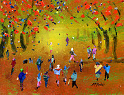 Crowd Paintings - Autumn Amble by Neil McBride