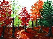 Landscape Drawings - Autumn by Anastasiya Malakhova
