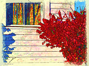 Window And Doors Framed Prints - Autumn and the Window Framed Print by Joan  Minchak