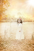 Children Metal Prints - Autumn Angel Metal Print by Cindy Singleton