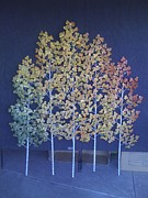 Autumn Sculpture Originals - Autumn Aspen Grove by Kelly Smith Cassidy