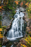 Crystal Art - Autumn at Crystal Cascades - New Hampshire  by Thomas Schoeller
